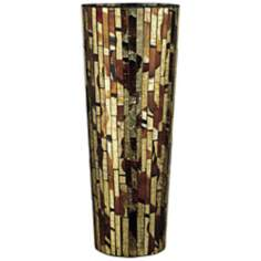 Dale Tiffany Bella Terra Large Cylinder Mosaic Glass Vase