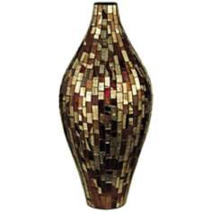 Dale Tiffany Bella Terra Oval Bulbous Mosaic Glass Vase