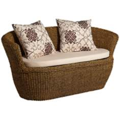 Sahara Maize Outdoor Loveseat