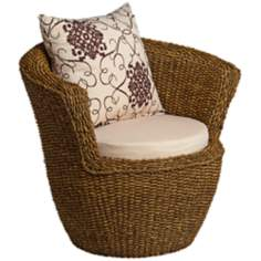 Sahara Maize Outdoor Round Chair and Cushions