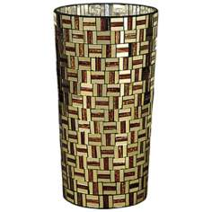 Dale Tiffany Ravenna Small Cylinder Mosaic Art Glass Vase