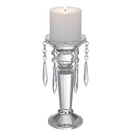 Small Crystal Pillar Candle Holder