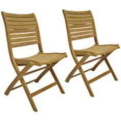 Amazonia Teak Dublin Outdoor Folding Chairs