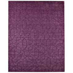 Uptown UP2454 Plum Purple Area Rug