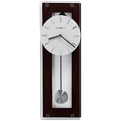 "Howard Miller Emmett 19"" High Wenge Wall Clock"
