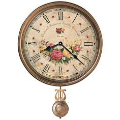 "Howard Miller Savannah 21"" High Botanical VII Wall Clock"