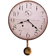 "Howard Miller Original II 13"" Wide Antique Wall Clock"