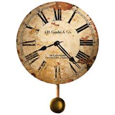 "Howard Miller J.H. Gould 13"" High Antique Wall Clock"