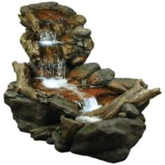 Rainforest Creek Three-Tier LED Fountain