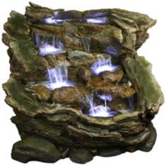Rainforest Falls Three-Tier LED Fountain