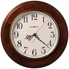 "Howard Miller Brentwood 11 1/2"" Wide Cherry Wall Clock"