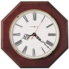 "Howard Miller Ridgewood 11 1/2"" Wide Oak Wall Clock"