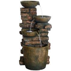 Mason Pots LED Fountain