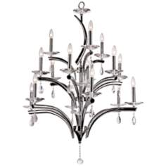 "Palace Crystal 32 1/4"" Wide 15-Light Chrome Chandelier"