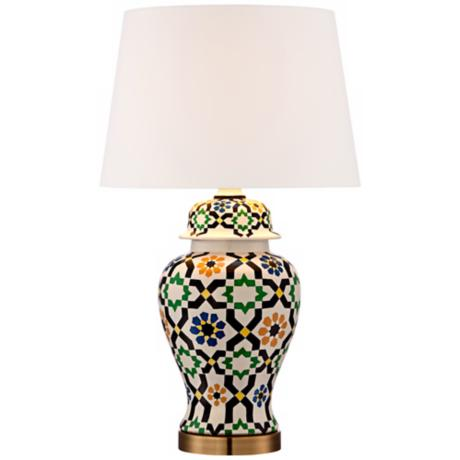 Moroccan Tile Ceramic Table Lamp