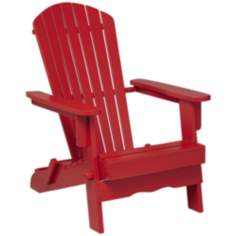 Monterey Wood Adirondack Chair in Red