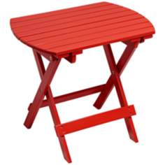 Monterey Wood Outdoor Side Table in Red