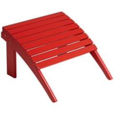 Monterey Wood Outdoor Ottoman in Red