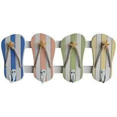 Judith Edwards Designs Beach Color Flip Flop Wall Hooks