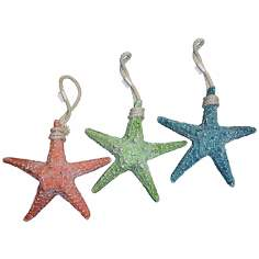 Judith Edwards Designs Set of 3 Colorful Starfish