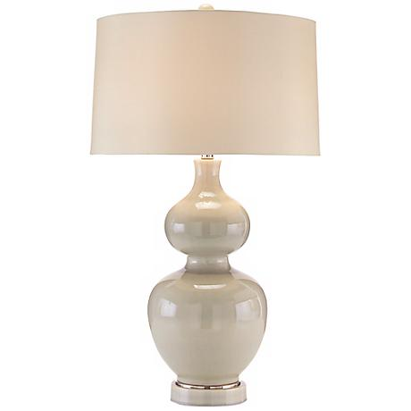 John Richard Double Gourd Aqua Table Lamp