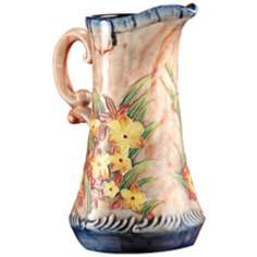 Dale Tiffany Springtime Hand-Painted Porcelain Pitcher