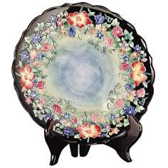 Dale Tiffany Flower Garden Hand-Painted Porcelain Plate