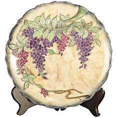 Dale Tiffany Wisteria Hand-Painted Porcelain Charger