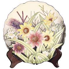 Dale Tiffany English Garden Floral Porcelain Charger