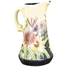 Dale Tiffany English Garden Floral Porcelain Jug