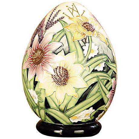 Dale Tiffany English Garden Floral Porcelain Egg