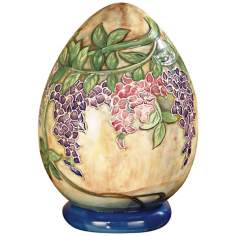 Dale Tiffany Wisteria Hand-Painted Porcelain Egg