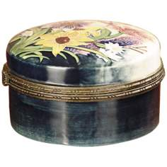 Dale Tiffany English Garden Floral Porcelain Jewelry Box