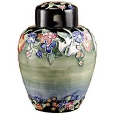 Dale Tiffany Flower Garden Hand-Painted Porcelain Jar