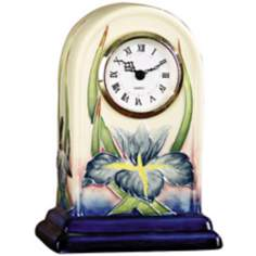 Dale Tiffany Iris Hand-Painted Porcelain Clock