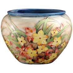Dale Tiffany Springtime Hand-Painted Porcelain Bowl
