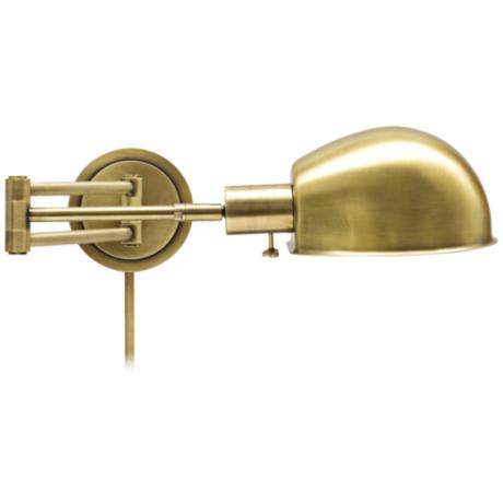 House of Troy Addison Antique Brass Swing Arm Wall Lamp - #X5578 LampsPlus.com