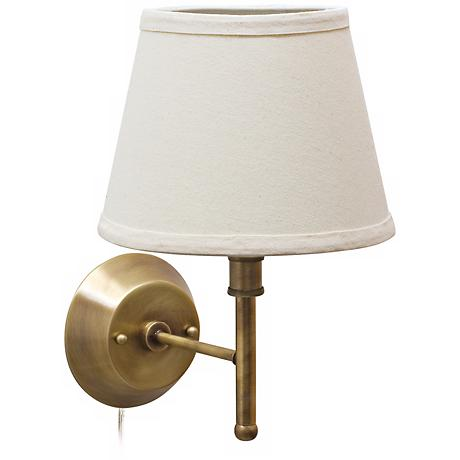 House of Troy Greensboro Antique Brass Torch Wall Lamp