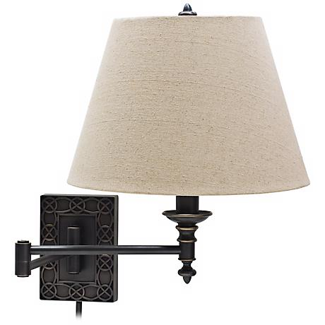 House of Troy Wall Knot Bronze Plug-In Swing Arm Wall Lamp