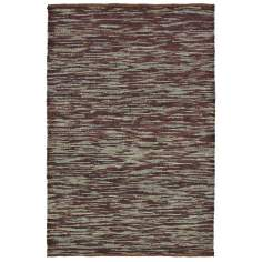 Classic Home Soumak Stripe Turquoise Mine Brown Jute Rug