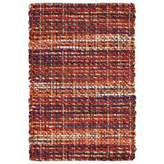 Classic Home Rope Braided Jute 4'x6' Sunrise Area Rug
