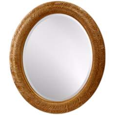 "Murray Feiss Arlene 36"" High Oval Wall Mirror"