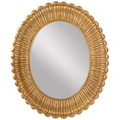 "Murray Feiss Emmet 36"" High Antique Gold Wall Mirror"