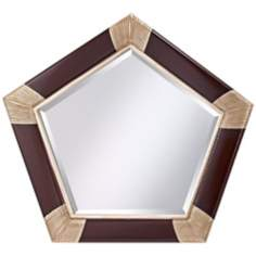 "Murray Feiss Penelope 41 3/4"" Wide Pentagon Wall Mirror"