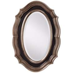 "Murray Feiss Julia 35"" High Oval Wall Mirror"