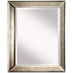 "Murray Feiss Antiqua 30"" High Framed Wall Mirror"
