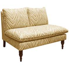 Tangine Queen Anne's Butternut Armless Chaise