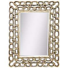 Kichler Link 52 1/2 High Silver Rectangular Wall Mirror