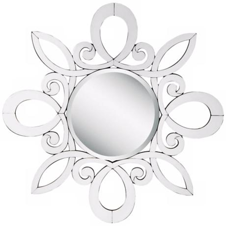 "Kichler January 47 1/4"" Wide White Wall Mirror"