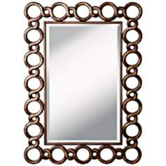"Kichler Cable 52 1/4"" High Distressed Silver Wall Mirror"